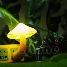 new style mini soft romantic sensor mushroom night light baby room