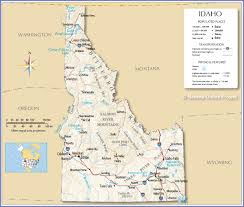 Map Of States With Capitals by Reference Map Of Idaho Usa Nations Online Project