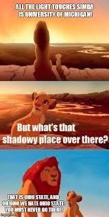 Ohio State Michigan Memes - simba shadowy place meme imgflip
