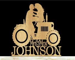tractor wedding cake topper tractor wedding cake topper and groom wedding cake