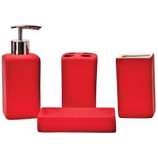 Brown And White Bathroom Accessories Lofty Design Red Bathroom Set Amazon Com Accessory Sets