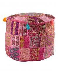 indian vintage patchwork ottoman pouf indian living room pouf