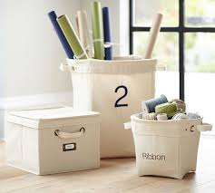Pottery Barn Storage Bins Fulton Canvas Storage Pottery Barn