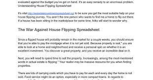 Property Flipping Spreadsheet Flipping Houses Docs