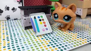 how to make a tiny water color paint set easy lps doll diy youtube