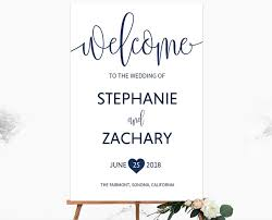 wedding signs template welcome signs