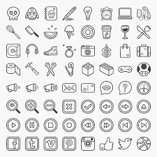 coucou is a set of 64 fun and quirky icons available in psd ai