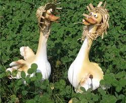 1pcs duck ornaments garden ornaments animal sculptures