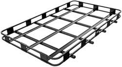 Landscape Trailer Basket by Roof Mounted Cargo Basket For Leer Camper Shell With Thule