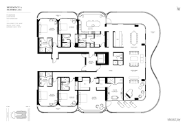 Five Bedroom Floor Plan Residence A3 Model Faena Versailles Contemporary Floor Plan