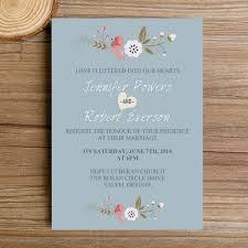 bohemian wedding invitations dusty blue floral bohemian wedding invitation kits ewi380 as low