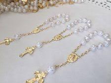 white rosary baptism rosary ebay