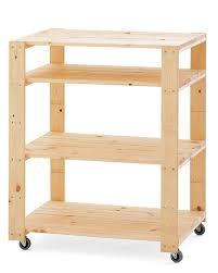 swedish wood shelving utility cart with wheels williams sonoma