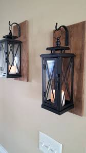 Rustic Wall Sconces Sconce Lantern Candle Wall Sconce Indoor Set Of 2 Medium Rustic