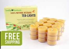 Tea Light Candles Beeswax Tea Light Candles 36 Natural Tea Lights