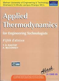 applied thermodynamics fifth edition by t d eastop and a mcconkey