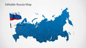 Map Russia Editable Russia Map Template For Powerpoint Slidemodel