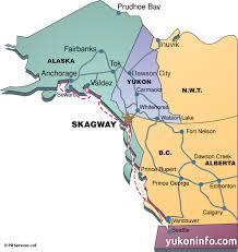 alaska on map skagway maps