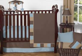 soho blue and brown crib bedding 11pc set only 189 99