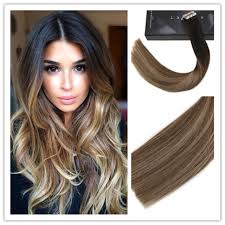 ombre hair extensions 5pieces human hair pu in extensions balayage ombre color