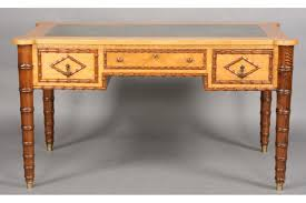 faux bamboo table legs birdseye maple faux bamboo desk with shaped top c 1900 for sale