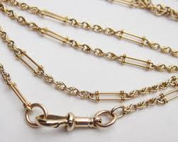 antique necklace chain images Victorian 9kt gold chain detailed 42 5 inch antique chain jpg