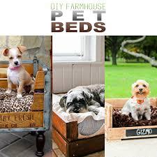 diy farmhouse pet beds the cottage market