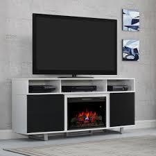 enterprise lite electric fireplace entertainment center in white