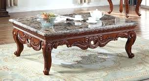hand carved coffee table perfect for interior design marble coffee