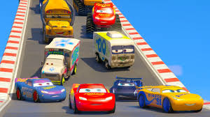 cars 3 cars 3 colors jackson storm lightning mcqueen monster truck cars 3