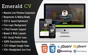 resume customization reasons emerald cv ultra customizable resume theme themifycloud