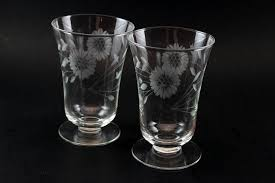 Hughes Cornflower Crystal Cordials Hughes Cornflower Crystal Parfait Glasses Optic 4 Parfait
