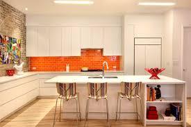 orange kitchen design new york duplex apartment by ghislaine vinas interior design