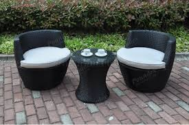 p50274 outdoor patio 3 pc set in dark brown by poundex w options