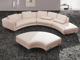 Grey Leather Tufted Sofa by Furniture Using Curved Sectional Sofa For An Exciting Living Room