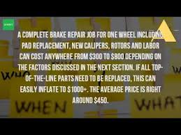how much does it cost to replace brakes and rotors and calipers