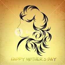 happy mothers day concept with sketch of a lady royalty free stock