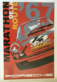 porsche racing poster 911r sportomatic u2013 marathon de la route 84 hours of nurburgring