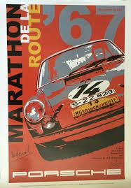 porsche poster vintage 911r sportomatic u2013 marathon de la route 84 hours of nurburgring