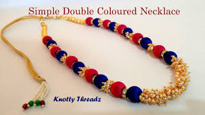 tutorial necklace making images Diy how to make a simple double coloured silk thread necklace at jpg