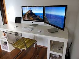 White Modern Computer Desk Modern Computer Desk Designs For Imac Fascinating White Thick