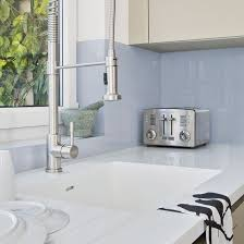 Green And Blue Kitchen Green And Blue Metro Tile Splashback Practical Kitchen