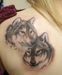 wolves tattoos man arm picture design faces 3d cool