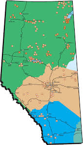 Map Of Edmonton Canada by First Nations In Alberta