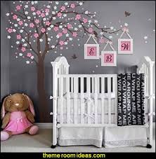 Cherry Blossom Tree Wall Decal For Nursery Decorating Theme Bedrooms Maries Manor Tree Murals Tree Wall