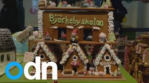 sweden holds festive gingerbread houses competition youtube