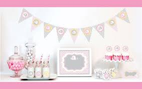 pink elephant party mod party baby shower favors