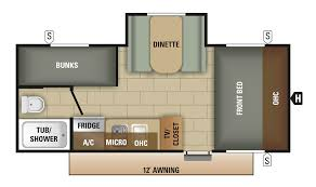 bunkhouse fifth wheel floor plans small starcraft rv