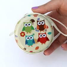 aliexpress com buy cartoon coin purse owl painting graffiti key