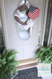 4th of july front porch tour chic california i look forward to getting my 4th of july wreath out every year i think this is my 3rd year using it i saw a picture on pinterest that i was inspired